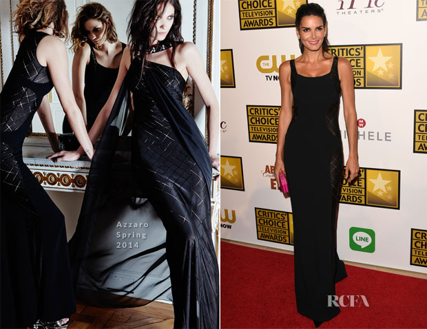Angie Harmon In Azzaro - 2014 Critics' Choice Television Awards