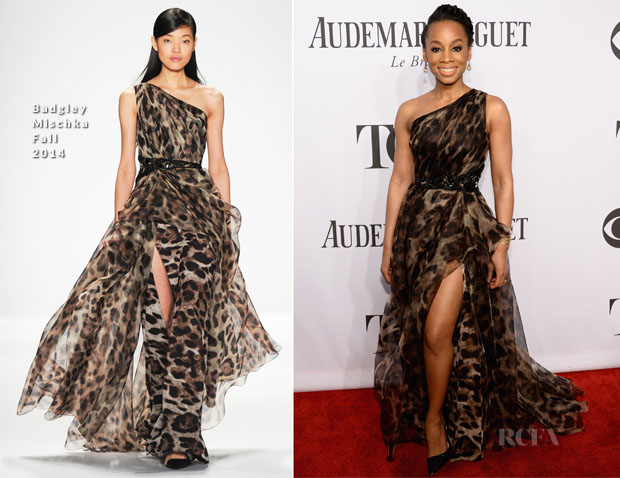Anika Noni Rose In Badgley Mischka - 2014 Tony Awards