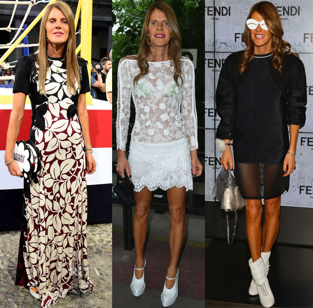 Anna Dello Russo Front Row @ Milan Fashion Week Mens Spring 2015 2