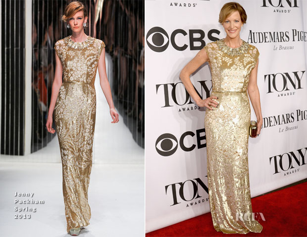 Anna Gunn In Jenny Packham - 2014 Tony Awards