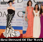 Best Dressed Of The Week - Coco Rocha in Christian Siriano & Hilary Rhoda in J. Mendel