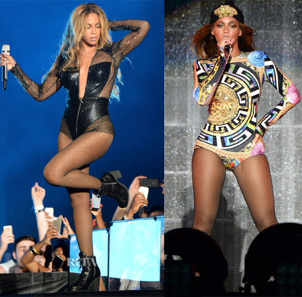 Beyoncé Knowles In Atelier Versace - 'On The Run' Tour