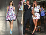 Beyonce Knowles In Mary Katrantzou - Out In New York City