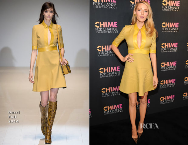 Blake Lively In Gucci - Chime for Change One-Year Anniversary Even