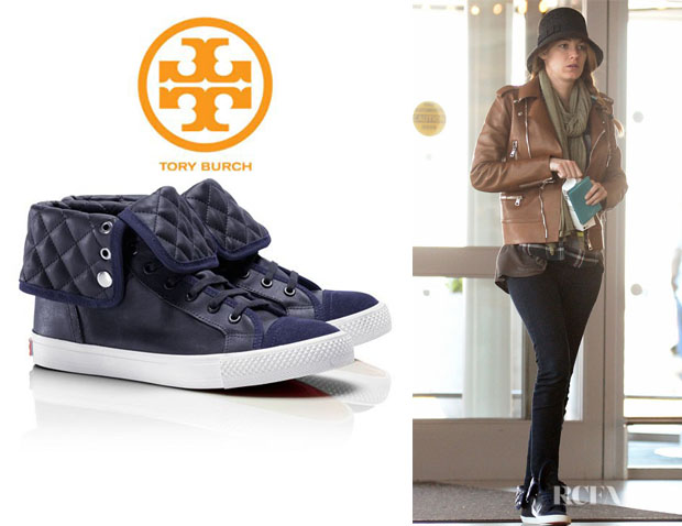 Blake Lively's Tory Burch 'Caspe' High-Top Sneakers