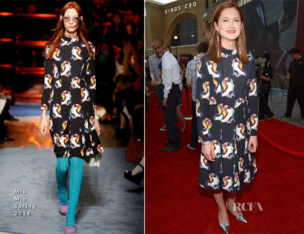 Bonnie Wright In Miu Miu - Wizarding World of Harry Potter Dragon Alley Grand Opening