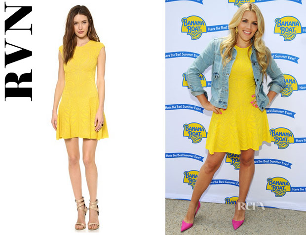 Busy Philipps' RVN Lace Jacquard Flare Dress