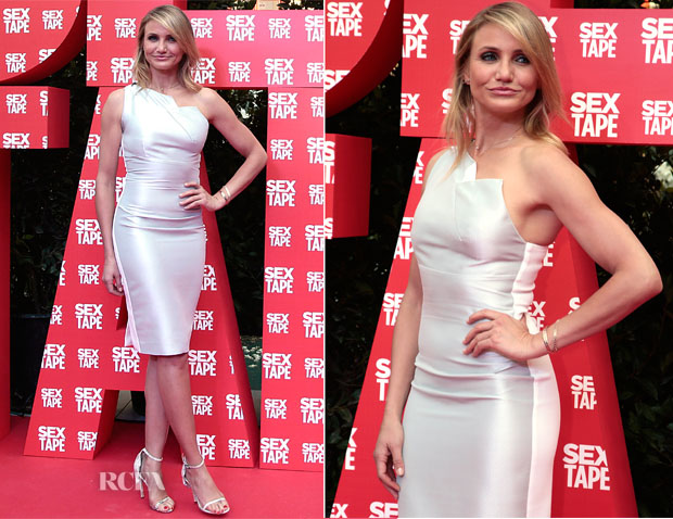 Cameron Diaz In Roland Mouret - 'Sex Tape' Barcelona Photocall