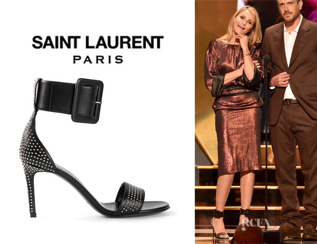 Cameron Diaz' Saint Laurent Studded Sandals