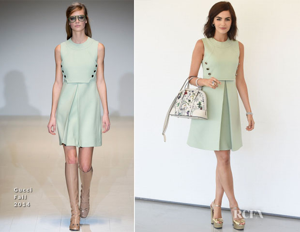 Camilla Belle In Gucci - 'In Conversation with Gucci Creative Director Frida Giannini'
