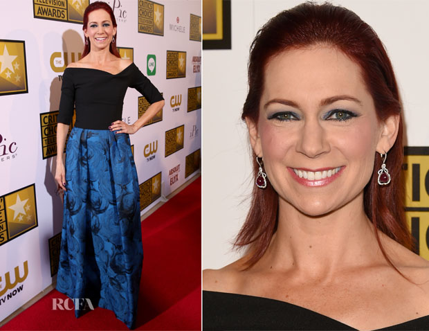 Carrie Preston In Black Halo - 2014 Critics' Choice Television Awards