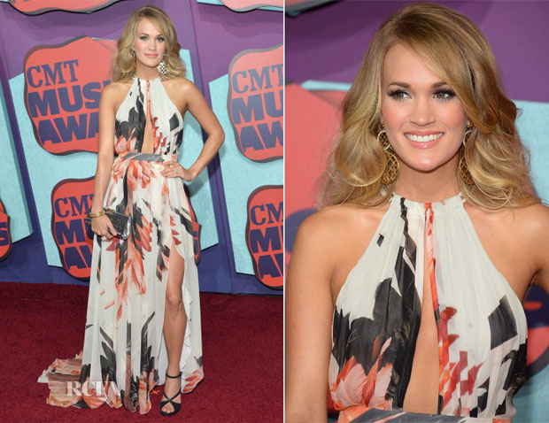Carrie Underwood In Roberto Cavalli - 2014 CMT Music Awards