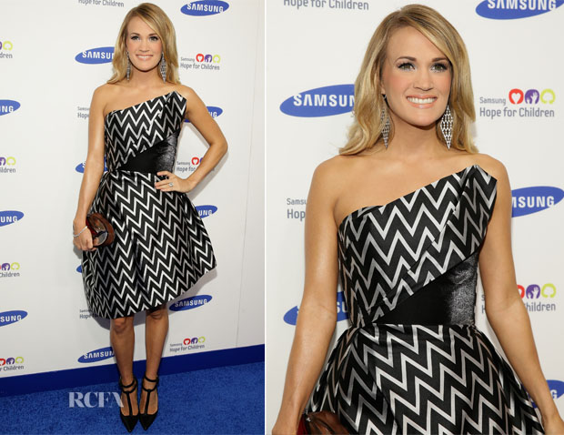 Carrie Underwood In Rubin Singer - Samsung Hope For Children Gala 2014