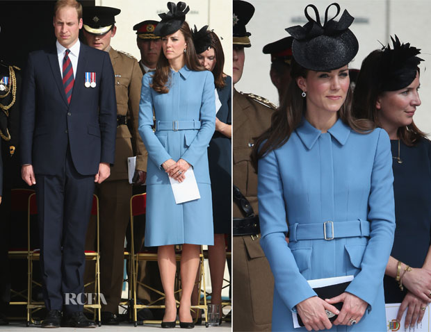Catherine, Duchess of Cambridge In Alexander McQueen - 70th Anniversary of D-Day Ceremony