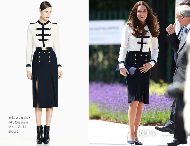 Catherine, Duchess of Cambridge In Alexander McQueen -  Bletchley Park Visit