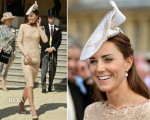 Catherine, Duchess of Cambridge In Alexander McQueen - Buckingham Palace Garden Party