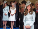 Catherine, Duchess of Cambridge In Christopher Kane - Garter Ceremony