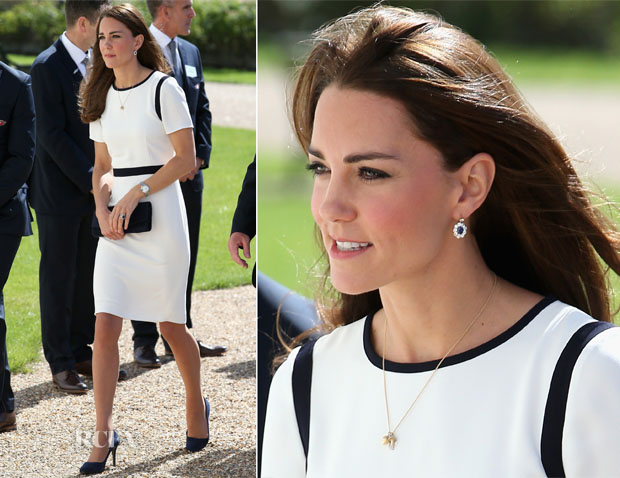 Catherine, Duchess of Cambridge In Jaeger - National Maritime Museum