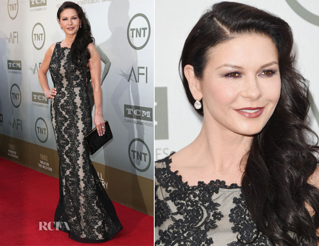 Catherine Zeta Jones In Alice + Olivia - AFI Life Achievement Award A Tribute To Jane Fonda