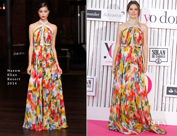 Celia Freijeiro In Naeem Khan - Yo Dona Awards