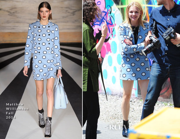 Chloe Moretz In Matthew Williamson - Out In New York City