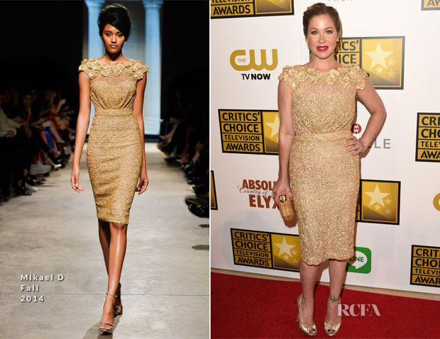 Christina Applegate In Mikael D - 2014 Critics' Choice Television Awards