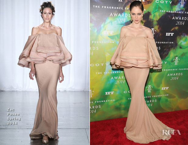 Coco Rocha In Zac Posen - 2014 Fragrance Foundation Awards
