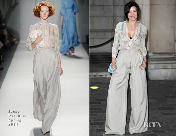 Daisy Lowe In Jenny Packham - Royal Academy Summer Exhibition Preview Party