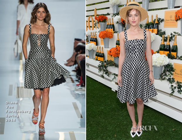 Dakota Johnson In Diane Von Furstenberg - Veuve Clicquot Polo Classic