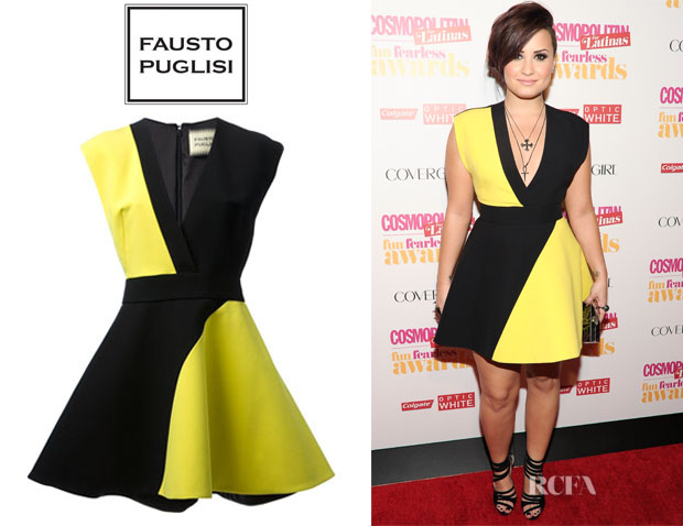 Demi Lovato's Fausto Puglisi Bi-Colour Dress