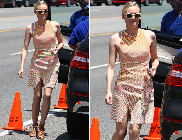 Diane Kruger In Dion Lee - Joel Silver's Annual Memorial Day Party