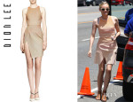 Diane Kruger's Dion Lee Sleeveless Cycle Wrap Day Dress