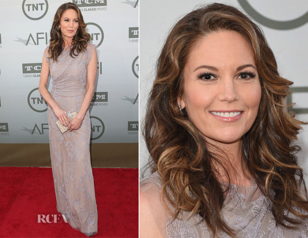 Diane Lane In Jenny Packham - AFI Life Achievement Award A Tribute To Jane Fonda