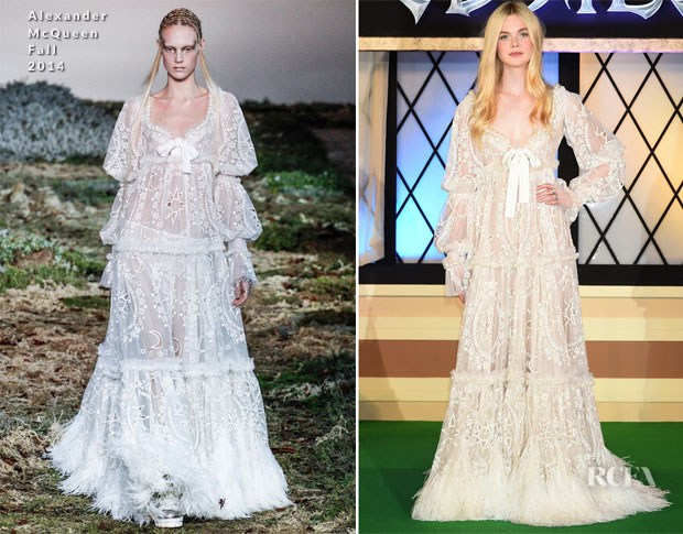 Elle Fanning In Alexander McQueen - 'Maleficent' Japan Premiere