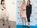 Elle Fanning In Lanvin & Angelina Jolie - 'Maleficent' Tokyo Photocall