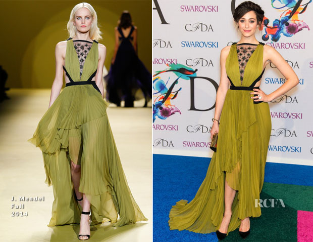 Emmy Rossum In J Mendel - 2014 CFDA Fashion Awards