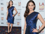 Emmy Rossum In J. Mendel - 'Comet' Los Angeles Film Festival Screening