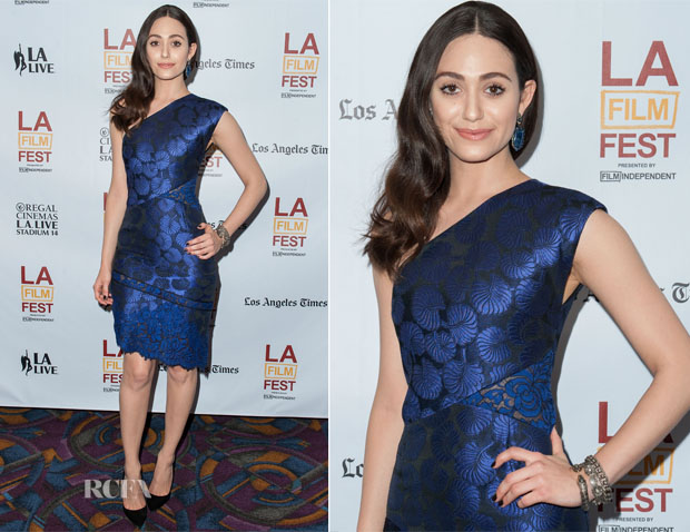 Emmy Rossum In J Mendel - 'Comet' Los Angeles Film Festival Screening
