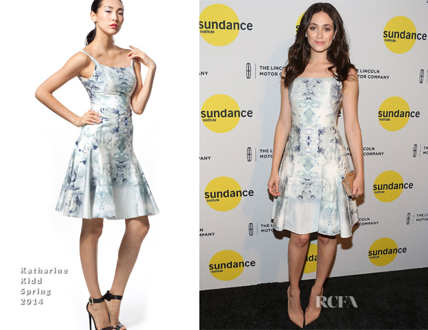 Emmy Rossum In Katharine Kidd - Sundance Institute New York Benefit