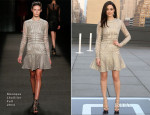 Emmy Rossum In Monique Lhuillier - American Express And Uber Mobile Loyalty Program Launch #AmexUber