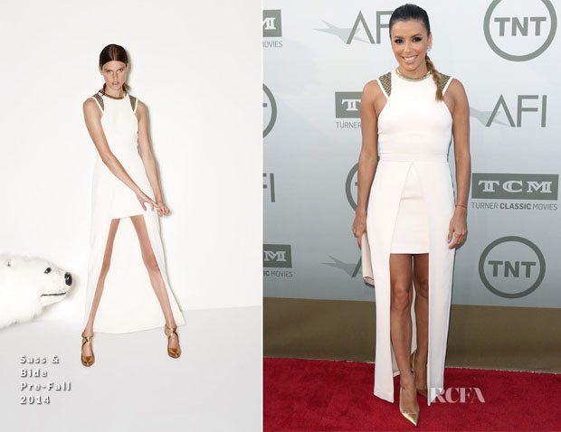 Eva Longoria In Sass & Bide - AFI Life Achievement Award A Tribute To Jane Fonda