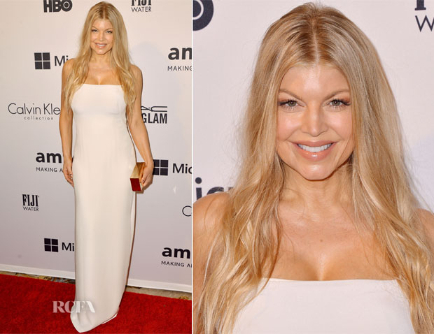 0c40fee568 Fergie Duhamel In Calvin Klein Collection - amfAR Inspiration Gala ...