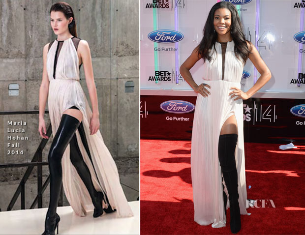 Gabrielle Union In Maria Lucia Hohan - 2014 BET Awards ...