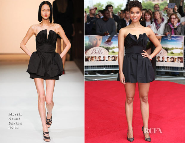 Gugu Mbatha-Raw In Martin Grant - 'Belle' London Premiere