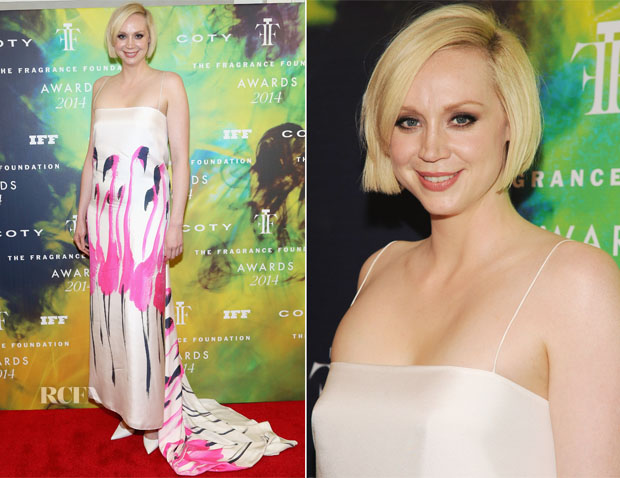 Gwendoline Christie In Giles - 2014 Fragrance Foundation Awards