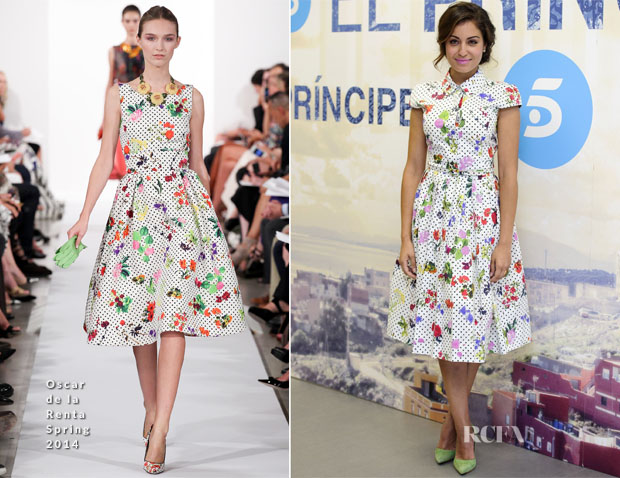 Hiba Abouk In Oscar de la Renta - 'El Principe' Press Conference