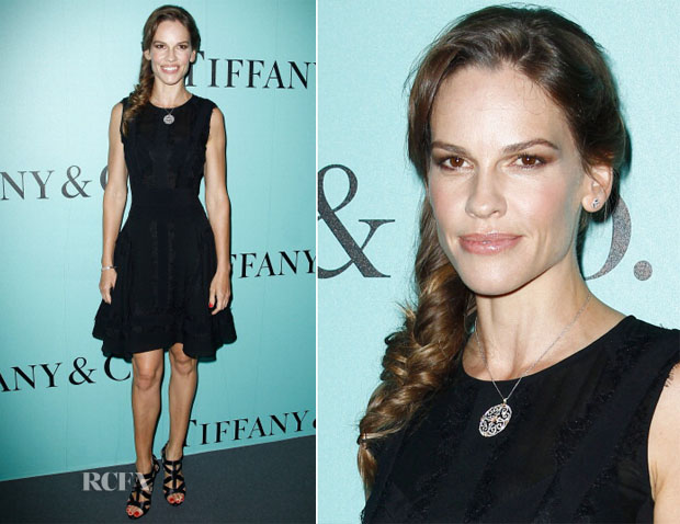 Hilary Swank In Elie Saab - Tiffany & Co