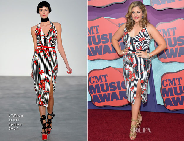 Hillary Scott In L'Wren Scott - 2014 CMT Music Awards