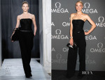 Jaime King In Jason Wu - OMEGA Speedmaster Dark Side Of The Moon Launch