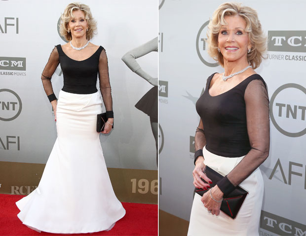 Jane Fonda In Vera Wang - 2014 AFI Life Achievement Award A Tribute to Jane Fonda